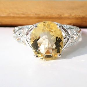 NWT Citron & Topaz Sterling Silver Ring Size 7